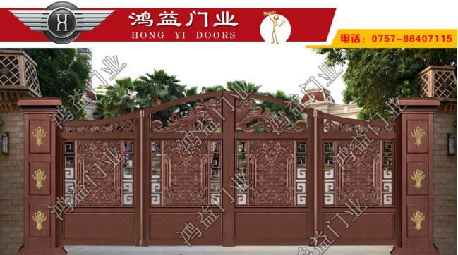 ?鸿益浅析铝艺庭院折叠门需注意的问题
