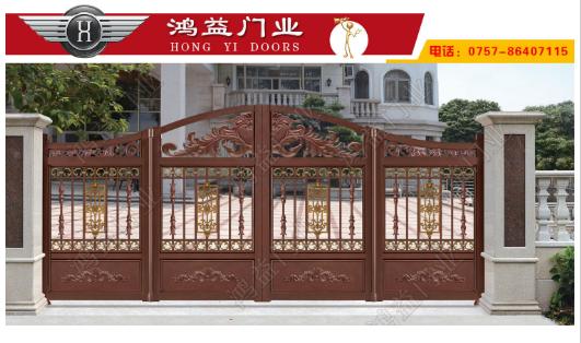 铝艺别墅门对比铜门跟铁艺门的不同之处